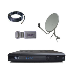 FreeviewTV - 60cm Satellite Package + DishTVS7010PVR Satellite Receiver
