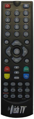 DishTV S7050PVR Remote