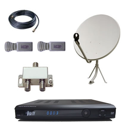 DishTV S7010 & Twin Sat Package