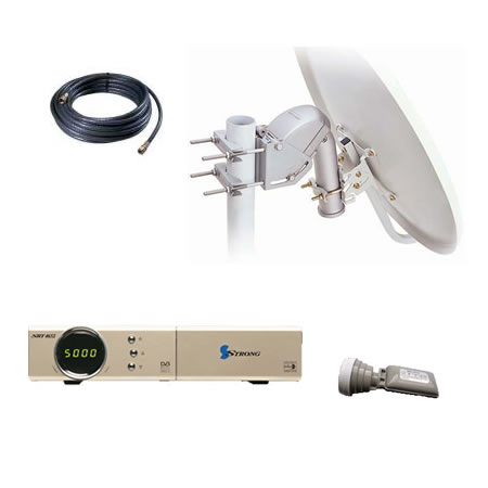 Dish Mover & Card Reader Receiver Package (80cm)