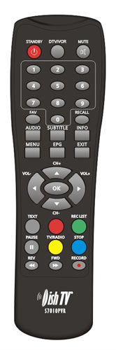 DishTV S7010PVR Remote